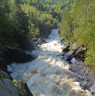 upper poplar river waterfalls